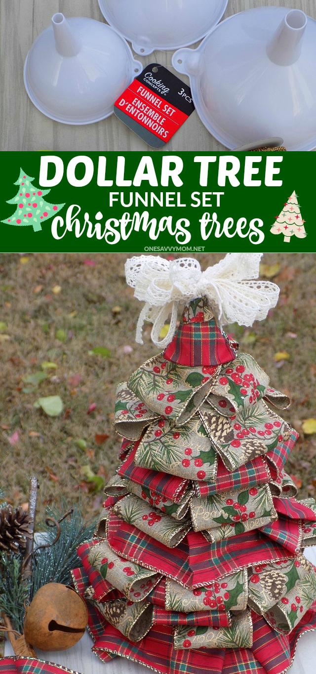 diy dollar tree funnel set christmas trees - Dollar Tree Christmas Tree