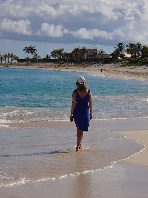 Susan on beach