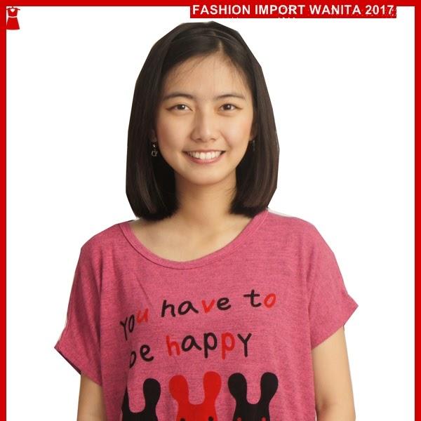 ADR150 Kaos Wanita Pink Rajut Rabbit Import BMGShop