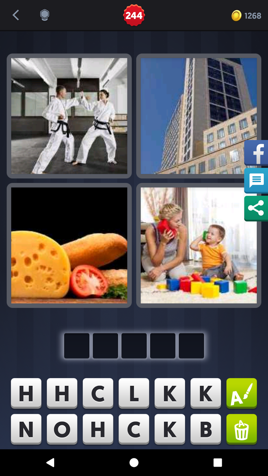 4 Pics 1 Word Answers Solutions Level 244 Block