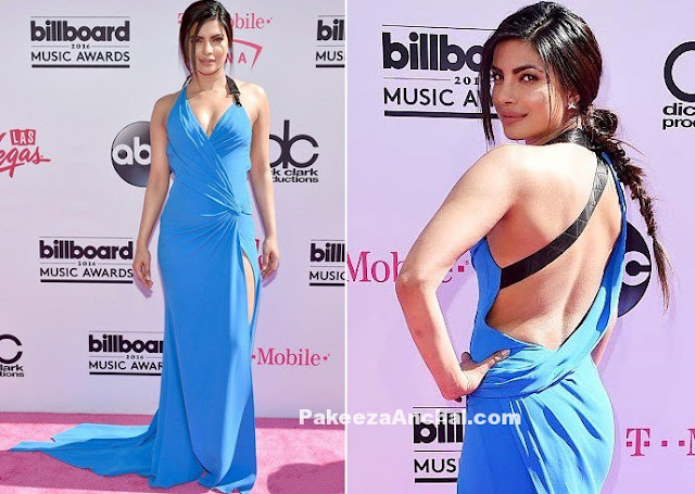 Priyanka Chopra in Atelier Versace Backless Gown