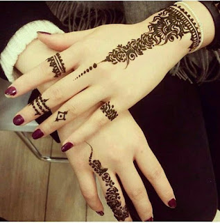 simple mehndi designs for hands 2018