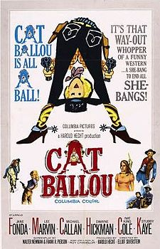 Cat Ballou 1965 movieloversreviews.filminspector.com film poster