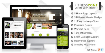 Download Fitness Zone v1.2 Sports, Health, Gym & Fitness Wordpress Theme