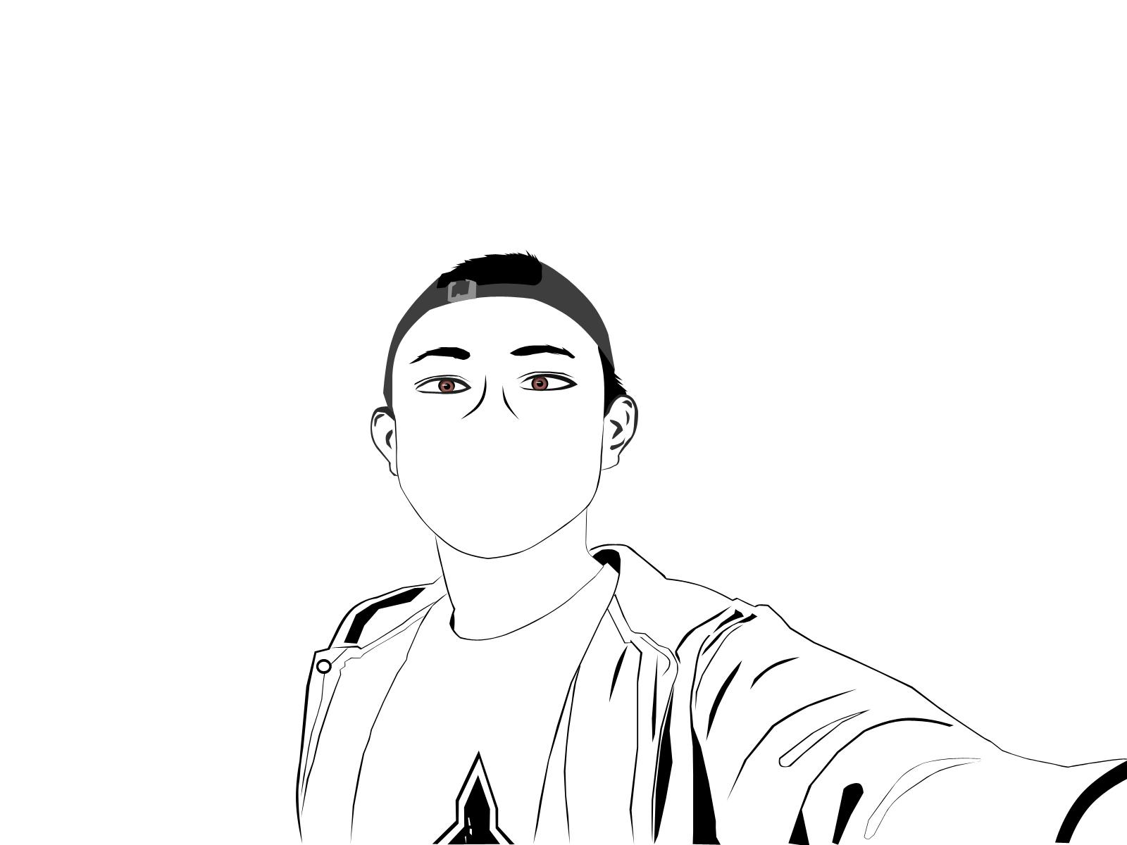 Line Art Wajah : My work karya sederhana adit pc