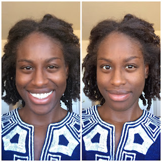 Before and After: Cacao Foundation and Aloe Vera Gel mascara and brow gel