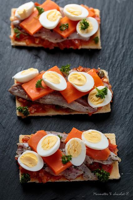 Фина тарта със сардини / Tarte fine aux sardines