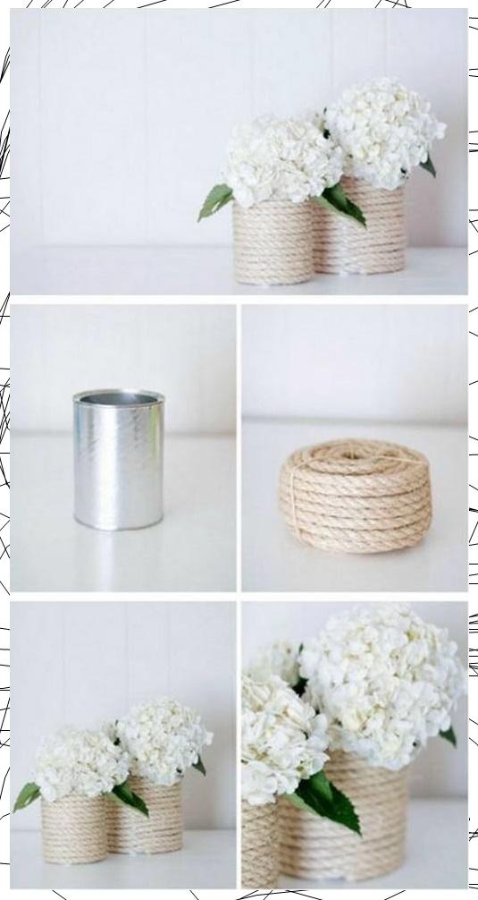 ไอเดียงานประดิษฐ์เชือกกระถางดอกไม้