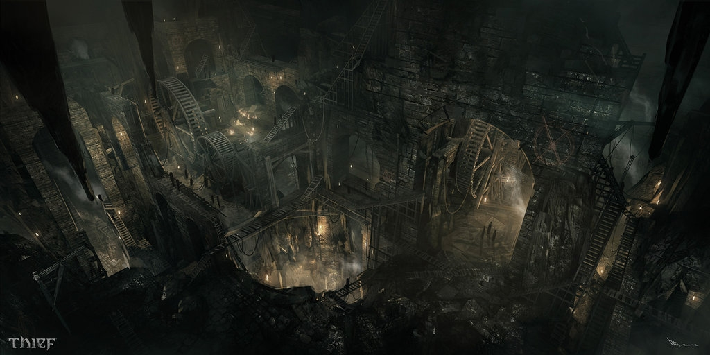 08-Hidden-City-Mathieu-Latour-Duhaime-Concept-Art-for-Thief-Steampunk-feel-Video-Game-www-designstack-co