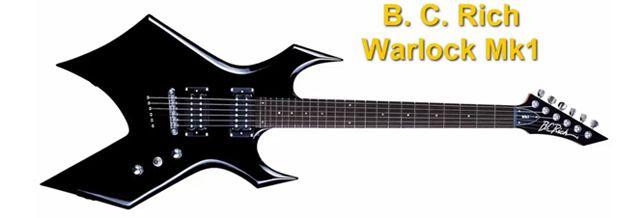 B.C. Rich Warlock MK1 con un Diseño Heavy
