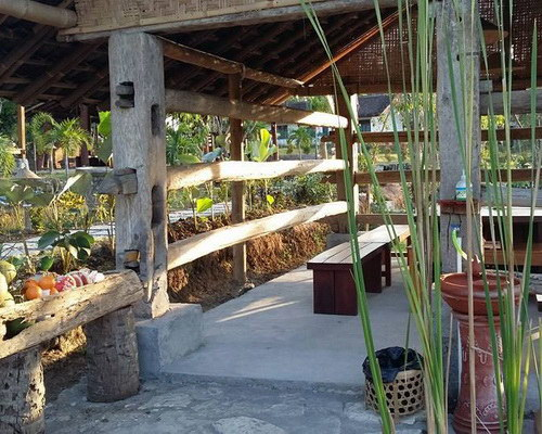 Tinuku Kampoeng Jelok Resort applying nature concept in rice fields, river, rustic architecture and culinary countryside
