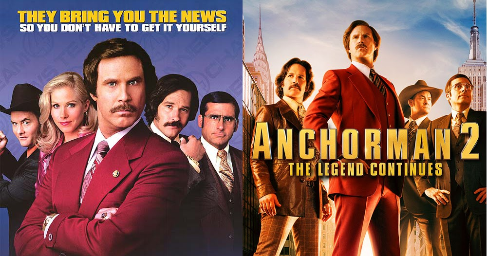 Anchorman The Legend Of Ron Burgundy 2004 Anchorman 2 The Legend Continues 2013