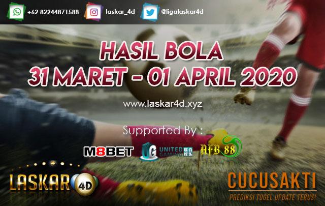 HASIL BOLA JITU TANGGAL 31 MARET – 01 APRIL 2020