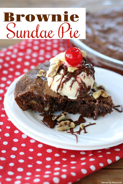 Indulgent and chocolately Brownie Sundae Pie is the dessert recipe you have been searching for.