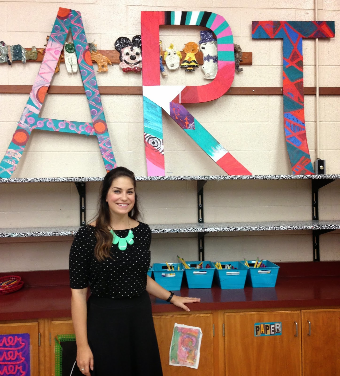 Ms. Murdock and ART in her classroom.