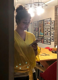 Keerthy Suresh at her Home 1