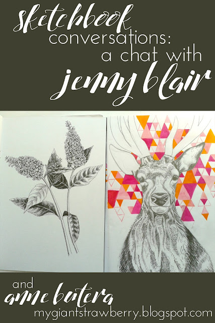 sketchbook conversations, sketchbooks, Jenny Blair, Anne Butera