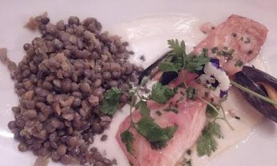 saumon et lentilles