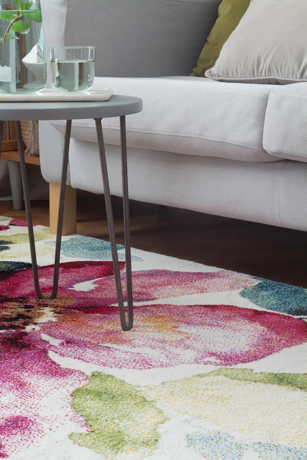 dywan w kwiaty