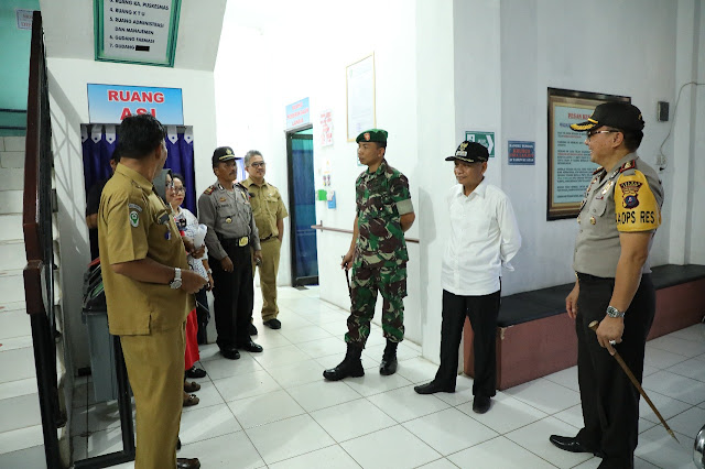 Wakil Bupati Asahan saat meninjau Pos Pam dan Pos Yan di Wilayah Kabupaten Asahan.