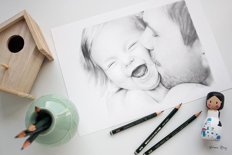 Retrato para regalar el día del padre
