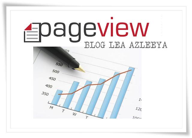 Total Pageviews Blog Lea Azleeya Cecah 1 Juta