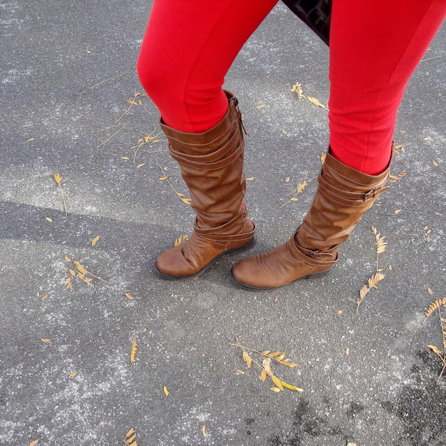 jean jacket, jacket, simple, boots, steve madden, steve madden boots, madden girl, red jeans, striped shirt, casual wear, h&m, old navy, jcpenny,