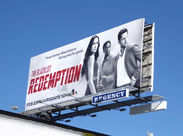 Blacklist Redemption TV series billboard