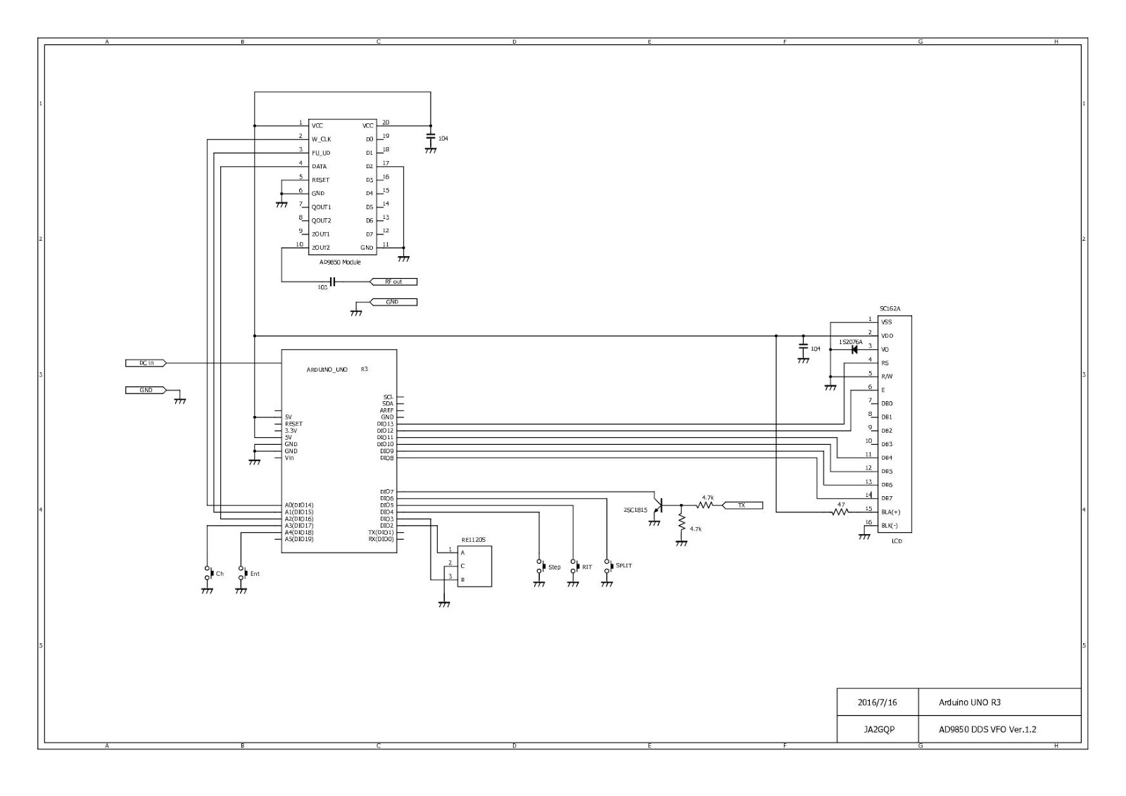 JA2GQP's Blog: Arduino AD9850 DDS VFO Ver 1 2