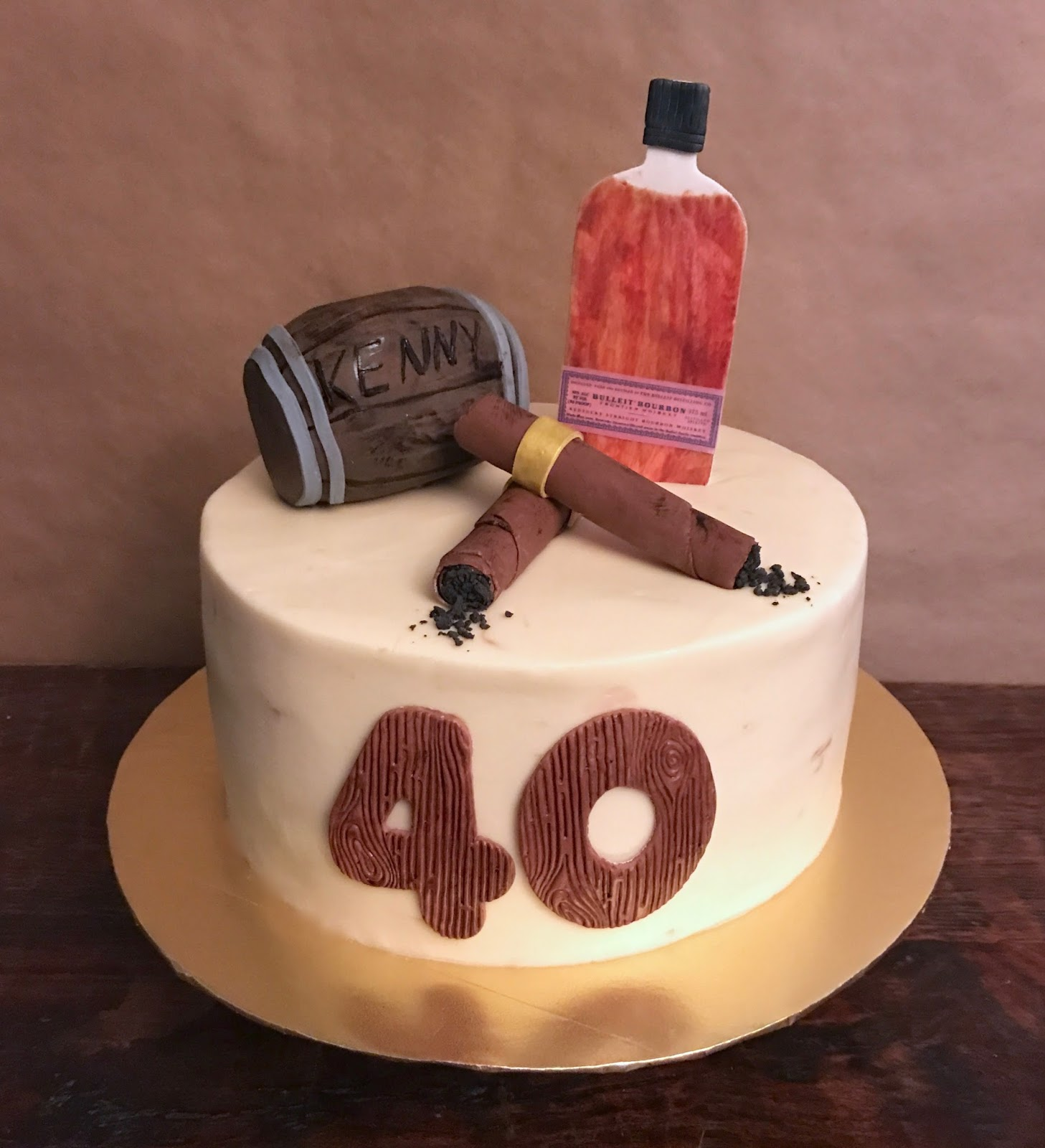 Cakes by Mindy: Whiskey and Cigars Birthday Cake 10