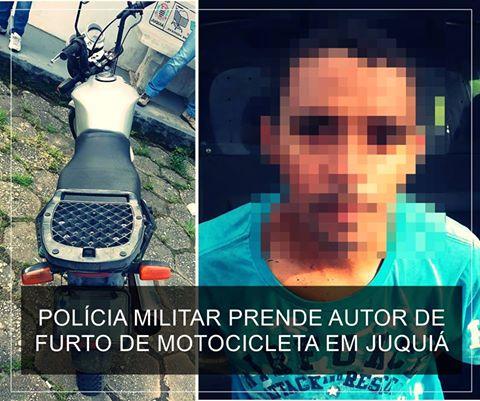 POLÍCIA MILITAR RECUPERA MOTOCICLETA FURTADA EM JUQUIÁ