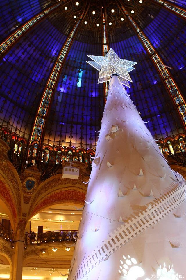бумажная елка Galeries Lafayette