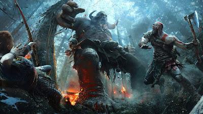 Papel de parede grátis de jogos games hd : God of War Kratos PS4.