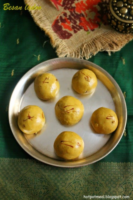 Hot pot cooking: Besan ladoo
