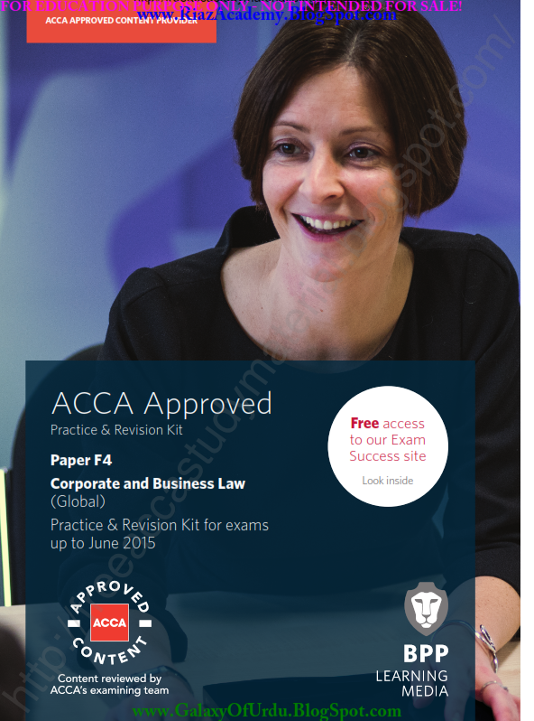 2015-ACCA-F4-CORPORATE AND BUSINESS LAW (GLOBAL) -Revision Kit