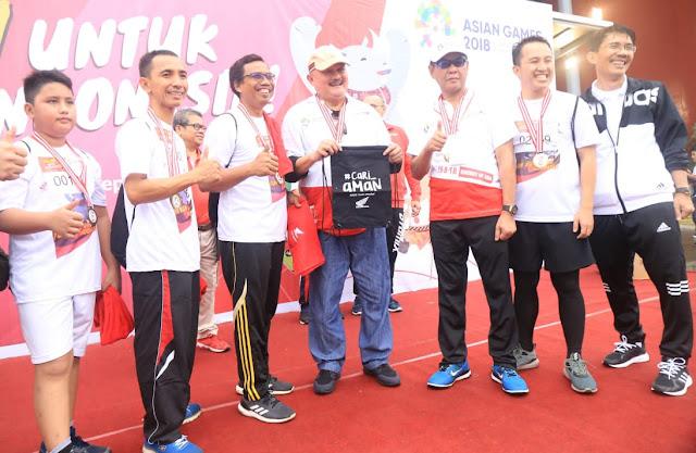 Gubernur Ajak : Cari_Aman di Fun Run Asian Games 2018