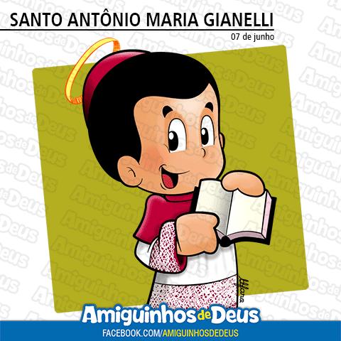 Santo Antonio Maria Gianelli Desenho Para Colorir Amiguinhos De Deus