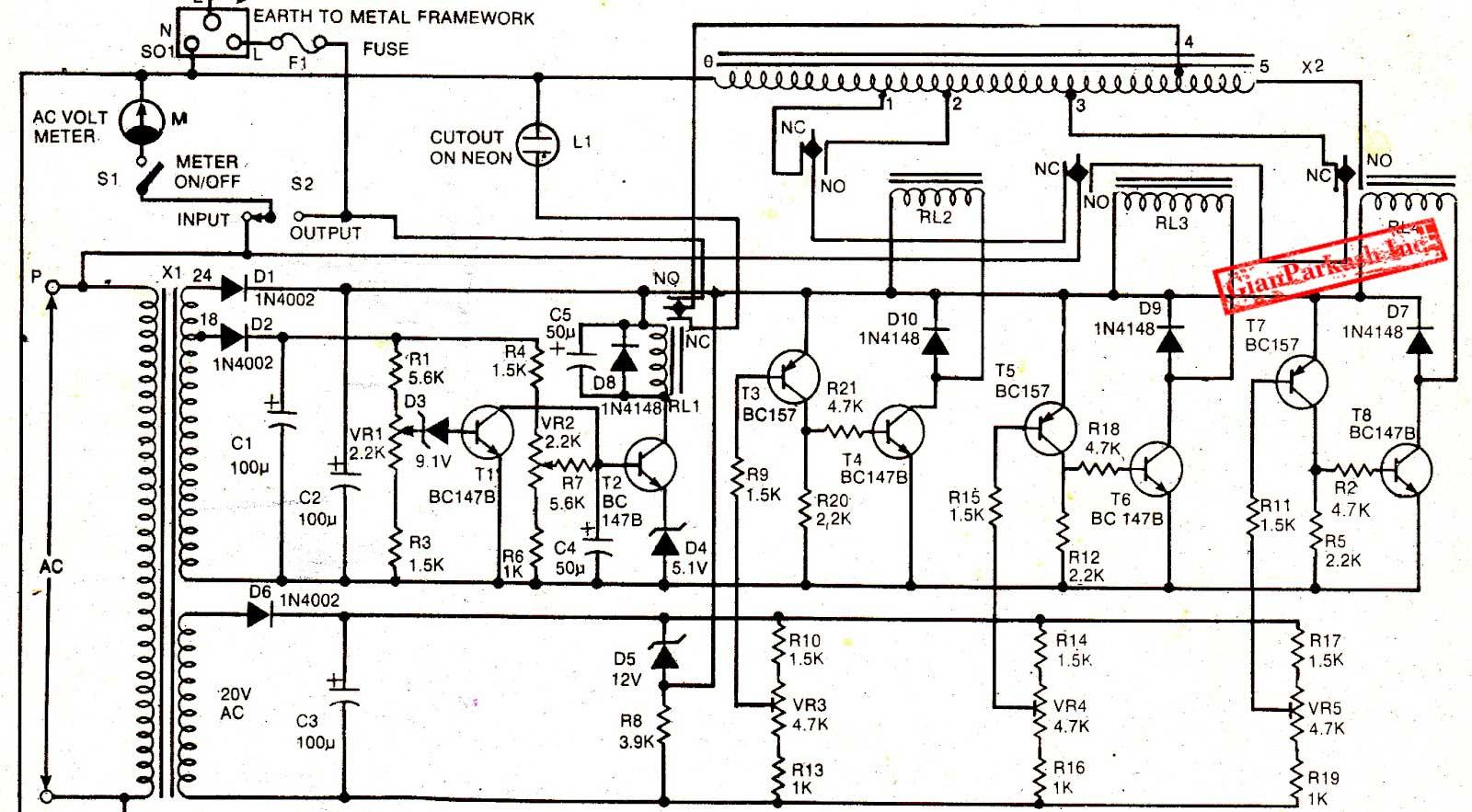 Ac Mains Voltage Stabilizer Circuit