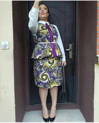 Monalisa Chinda ventured out in lovely Ankara dress yyyyyyy