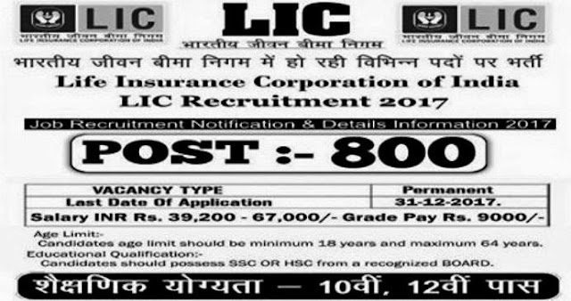 LIC Recruitment 2017