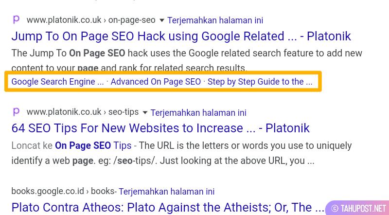 jump link pada meta deskripsi hasil pencarian di Google