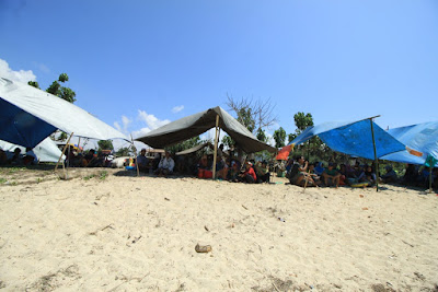 kapung, bersih kampung, pantai kuta, selamatan kampung, rembitan, lombok tengah