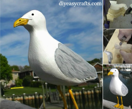 How to Carve a Wood Seagull with an Easy Method