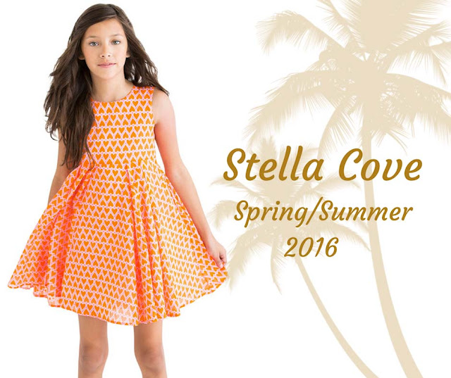 Stella Cove | Orange & Pink Heart Dress | Chichi Mary Boutique