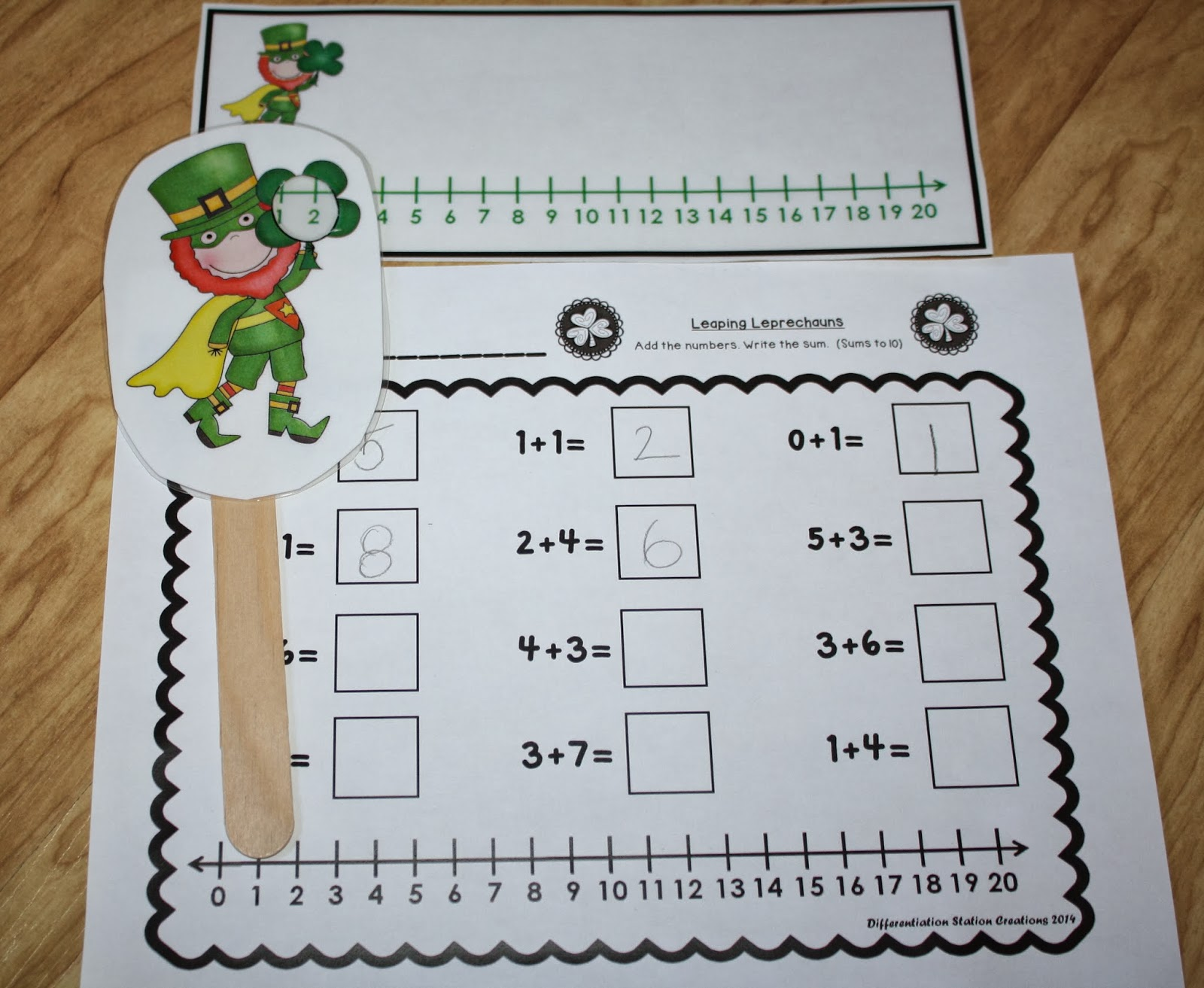 Differentiation Station Creations Leaping Leprechauns Freebie