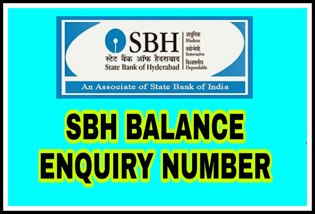 SBH Balance Enquiry Number