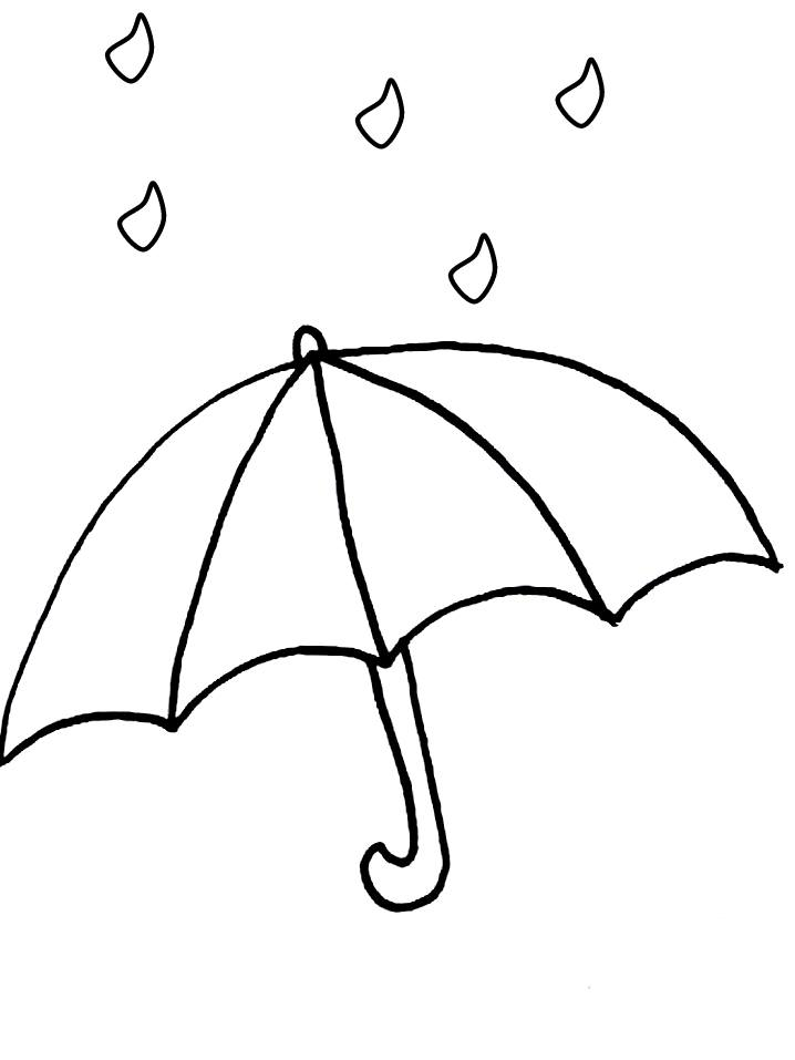 Dessins et coloriages page de coloriage grand format - Dessin parapluie ...