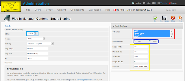 Membuat Tombol Sharing Sosial Media Di Joomla