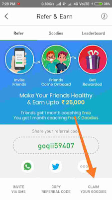 Goqii App Refer Get Goodies