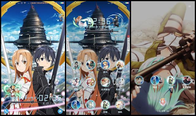 Tema Xiaomi Sword Art Online V41 Gambar Anime Theme For